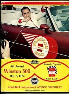 Talladega Superspeedway Auto Race Program NASCAR 5/5/1974-George Wallace-Foyt-VG