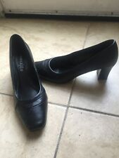 Profile Court Shoes Size 6 black BHS Brand New With Labels real genuine leather