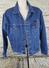 Blue  Jean Jacket Men's Size Medium ICA Roads Trucker Canada Button Down i/d
