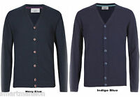 New Ex M&S Men's Cotton Button Front V-Neck  Cardigan Jumper Sweater Size S-XXL