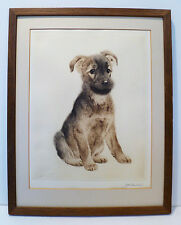 KURT MEYER-EBERHARDT -FOX TERRIER - RARE 30s GERMAN DRYPOINT ETCHING - LISTED