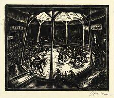 BERLIN - LUNAPARK - HIPPODROM - Walter Preisser - Holzschnitt 1923