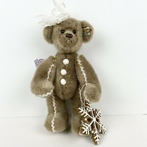 """Annette Funicello Collectible Bear 10"""" with bow and ornament"""