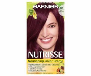 Garnier Nutrisse Nourishing Color Creme, 42 Deep Burgundy