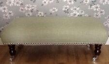 A Quality Long Footstool In Laura Ashley New Dalton Hedgerow Fabric