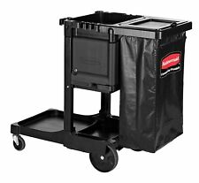 Rubbermaid Executive Janitorial Cleaning Cart Traditional, Black, PN 1861430