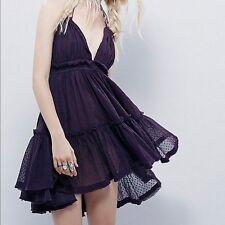 Free People 100 Degree Purple Boho Date Party Beach Halter Dress S NWT