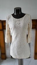 RIVER ISLAND VINTAGE CREAM DRESS SIZE UK6