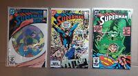 SUPERMAN 3 BOOK LOT #'s 397, 398 & 399  DC COMICS NM CONDITION (B15)