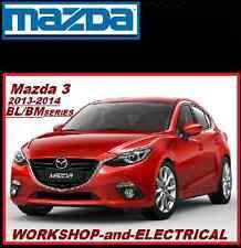 Mazda 3 2013-2014 BL-BM Series 2.0L 2.5L SKYACTIV SP25 Workshop-Electrical CD