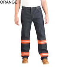 NWT! Dickies Men's Enhanced Visibility Regular Fit Straight Leg Jean  32X32