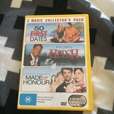 3 MOVIE COLLECTOR'S PACK. 50 FIRST DATES/ HITCH, MADE OF HONOUR DVD