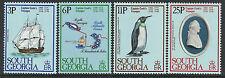 SOUTH GEORGIA 1979 VOYAGES CAPTAIN COOK Ship Resolution Penguin Set 4v MNH