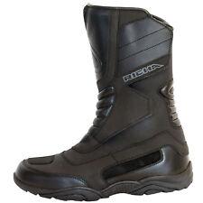 Richa Vapour Leather Waterproof Motorbike Motorcycle BOOTS - Black EU 46
