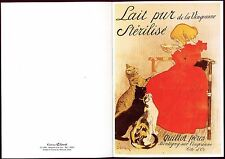 carte postale publicitaire. lait pur de la Vingeanne. Quillot Frères.  chat. cat