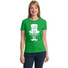 Happy St. Patrick's Day Women's T-shirt funny drinking Irish Day tee