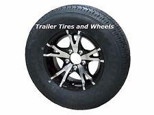 """T07BK 185/80R13 LRD 8 PR Radial Trailer Tire on 13"""" 5 Lug Aluminum Trailer Wheel"""