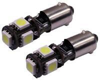 2 AMPOULES H6W LED AUDI A4 B5 TT 8J 8N VEILLEUSES ULTRA BLANC XENON BAX9S
