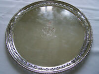 ENGLISH SHEFFIELD DECO SILVER on COPPER LARGE SERVING TRAY ~ OUR FineThings4sale