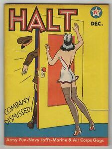 Halt (1941) #1 Risque Army Navy Humor Cartoons Jokes Digest Frank Beaven FN/VF