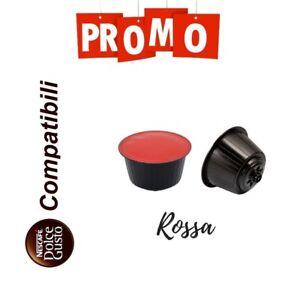 PROMO 300 Cialde Capsule Caffe Compatibile Nescafè Dolce Gusto Miscela Rossa