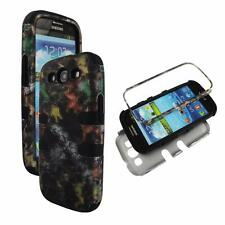 For Samsung Galaxy S 3 III i9300 Hybrid BlkStrip Camo Trunk Hard Soft Cover