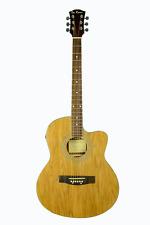 De Rosa Cutaway Acoustic-Electric Light Thin Body Guitar Natural Free Shipping