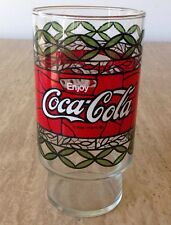 VINTAGE 1970s Pizza Hut COCA COLA Tiffany Style Tumbler Drink Glass COKE CUP