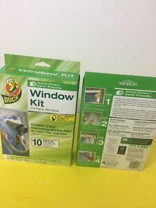 "2 DUCK Crystal Clear Window Shrink Film Kit 20 Window 62""x 420"" Indoor Insulator"