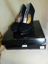 "New Express Black Suede Stiletto Heel Pumps Sz. 7 1/2"" $128 Sexy!"