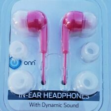 Pink Onn in-ear Headphones with Dynamic Sound