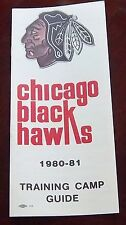Chicago Black Hawks  Training Camp Media Guide & schedules 1980-81