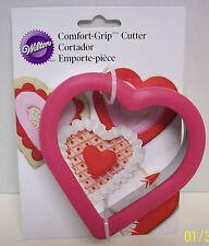 Wilton HEART SHAPE Comfort-Grip COOKIE CUTTER Oversized  NIB2