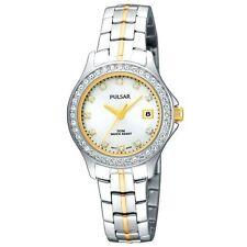 New Pulsar Women Swarovski Crystal White Dial  Watch PH7227