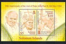 Solomons 2004 Pope John Paul II/Visit/Religion/People 2v m/s (n32904)