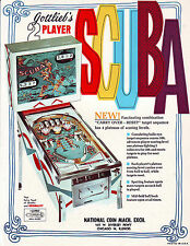 Gottlieb SCUBA Original 1970 NOS Flipper Arcade Game Pinball Machine Sales Flyer