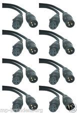 8 x 0, 5 m cable XLR DMX 0, 5m conector XLR con sistema de cable digital de 120 ohmios de howertigen
