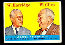 1958 TOPPS #300 WILLIAM HARRIDGE & WARREN GILES