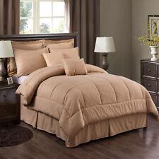 10 Piece Bed In A Bag Hotel Plaid Embossed Comforter Sheet Bed Skirt Sham Set