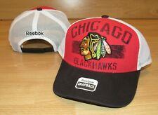 Chicago Blackhawks Reebok NHL Mesh Trucker Snapback Hat Cap Men's