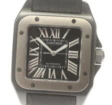 CARTIER Santos 100LM W2020010 black Dial Automatic Men's Watch_569067