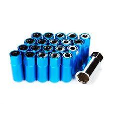 GODSPEED GSP BLUE TYPE-5 T-5 WHEEL RIM RACING LUG NUTS 55MM 20 PIECE M12 X 1.50
