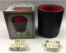 VEGAS GAMING SUPPLIES DELUXE Bar Style DICE CUP With 5 Regular & 5 Poker Dice  *