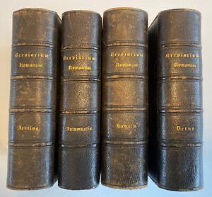 Breviarium Romanum, 1853 Antique Set, Hiemalis, Verna, Aestiva, Autumnalis