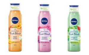 Nivea Shower Gel Fresh Blends Apricot Blueberry Watermelon Vegan Formula 300 ml