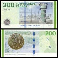 Denmark 200 Kroner, 2013, P-67, Banknote, UNC