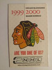 1999-2000 Chicago Blackhawks Pocket Schedule Doug Gilmour Tony Amonte Thibault