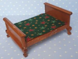 Bett Schlafzimmer Möbel Mahagoni Puppenstube Puppenhaus