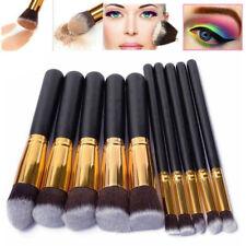10Pcs Pinceaux Brosse à Maquillage Professionnel Cosmétique Eye-liner Brush Set