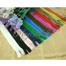 50 Assorted Dress Upholstery Craft Nylon Metal Closed Open Ended Zips New M